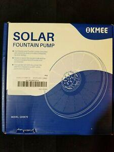 OKMEE Solar Fountain Upgraded 4-in-1 Nozzle, 3.5W LED Solar Powered Fountain Pum
