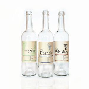 Bottle Labels Home Brew Spirits Whiskey Brandy Self Adhesive Waterproof 15 Pack