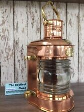 Copper Lookout Lantern ~ Ship Masthead Oil Lamp ~ Nautical Masthead Light