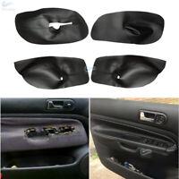 4xBlack Interior Door Panels Armrest Leather Cover for VW Bora Jetta Golf MK4