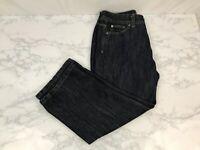 Wrangler Capri Cropped Blue Jeans Womens Size 6 dark Denim Wash Stretchy Pants X