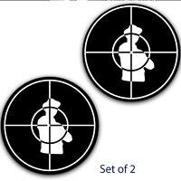 "Set of 2 Public Enemy Inverted Scope Slipmat Turntable 12"" LP Slip Mat DJ x2"