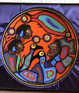 """Norval MORRISSEAU Collector PLATE """"Autumn"""" Limited Edition 10"""" NEW Mint In Box"""