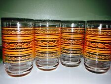 Vintage 6 oz Orange Juice Glasses Orange Design Collectibles Gift