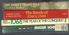lot THIRTY YEARS WAR Parker CRECY Ayton 1066 CONQUEST Howarth INVASION Fourneaux