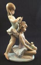 Fine Porcelain Lladro Figurine #5714 First Ballet Ballerinas