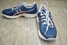 New listing Asics Gel-Contend 4 Gs C707N Athletic Shoes, Big Girls Size 5.5, Navy
