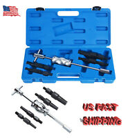 5PC Inner Bearing Gear Puller Set Blind Hole Extractor Slide Hammer Removal Tool