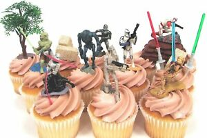 STAR WARS 14 Piece Birthday Cake Topper Set Star Wars with Themed Accessories