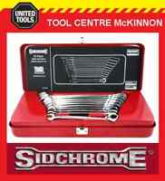 SIDCHROME SCMT22202N 10pce RATCHET RING & OPEN END METRIC SPANNER / WRENCH SET