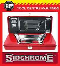 SIDCHROME SCMT22202N 10pce GEARED RING & OPEN END METRIC SPANNER / WRENCH SET