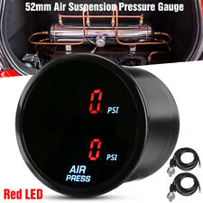 "2"" 52mm Car PSI Air Pressure Gauge RED LED Dual Digital Display Air Ride Gauge"