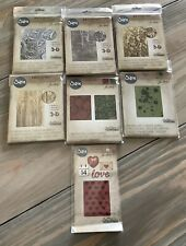 7 Sizzix Tim Holtz Alterations Lot Texture Fades 3 D Nip