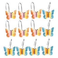 AGPTEK 12 PCS DECORATIVE Butterfly SHOWER CURTAIN HOOKS NEW