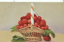 Fruit Postcard - Basket of Strawberries    2670