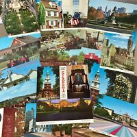 Lot of 20 vintage Pennsylvania postcards unused Philadelphia Amish etc NOS