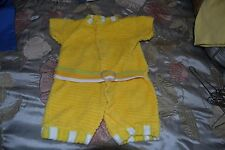 Adorable Bright Yellow Baby or Baby Doll One Piece Suit