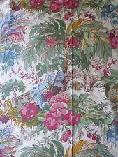 ancien tissu textile coupon BOUSSAC imprimé paysage 1992 / B