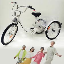 """3 Rad Dreirad für Erwachsene 24"""" 6 Gänge Erwachsenendreirad Fahrräder Fahrrad"""