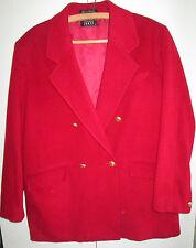 Ladies Fletcher Jones size 16 Wool & Cashmere Dark Red Coat Jacket Lined