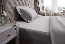 Jasmine Silk Pure Silk Fitted Sheet (Grey) -SUPER KING