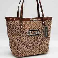 Guess Authentic Tansy Mocha Signature Tote Bag Handbag Purse Nwt