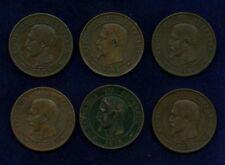 FRANCE 10 CENTIMES COINS: 1853-A,1853-BB,1853-W,1855-A