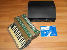 Old VTG Original Carmen Green Marble Decorative Accordion Musical Instrument