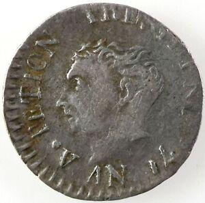 Haiti: Western Republic 1817 (AN14) Small Head,  Silver 12 Centimes, KM# 14