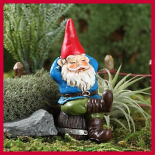 Fairy Garden Fun Rufus Napping Garden Gnome w Pick Miniature Dollhouse
