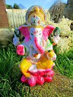 Fair Trade Hand Made Indian Resin Ganesh Ganesha Elephant Hindu Deity Statue