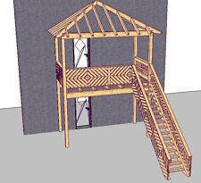 Holzbalkon Vorstellbalkon  Balkonbausatz Anbaubalkon mit Dach und Treppe