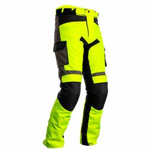 RST Atlas CE Motorcycle Motorbike Textile Trouser Fluo Yellow / Black / Grey