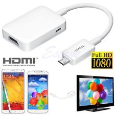 MHL 2.0 Micro USB to 1080P HDMI HDTV Cable Adapter For Samsung Galaxy S5 S4 S3
