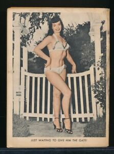 GEE-WHIZ! July 1956 Spicy Humorama Cartoon Pin-Up Digest BETTIE PAGE Back Cover