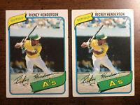 1980 Topps #482 Rickey Henderson Rookie Lot Oakland A's New York Yankees HOF