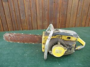 """Vintage McCULLOCH D45 Chainsaw Chain Saw with 16"""" Bar"""