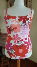 WHITE PINK  ORANGE FLORAL MIX SWIMSUIT - SIZE 20 - BNWOT - M&S - HOLIDAY