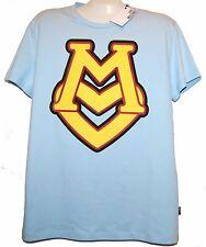 Love Moschino Blue Yellow Logo Design Cotton Men's T-Shirt Size XL NEW $170