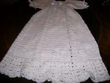 Handmade crocheted Christening Gown  9-12 months