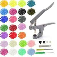 360pcs Plastic Resin Press Stud Cloth Tool Kit + Fastener Snap Pliers Button LOT
