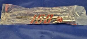 AUSTIN HEALLEY 100 6 BADGE NEW OLD STOCK  , B GRADE , RED PAINT NEEDS RE TOUCHIN