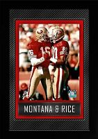 Joe Montana #16 Jerry Rice #80  San Francisco 49 ers,Wandbild,45 cm,NFL Football