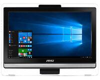 "19.5"" MSI Multi-Touch All in One PC N3160 4GB 1TB Windows 10 AIO Desktop Black"
