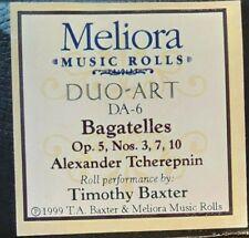 BAGATELLES OP. 5, NOS. 3, 7, 10 DUO-ART RECUT REPRODUCING PIANO ROLL
