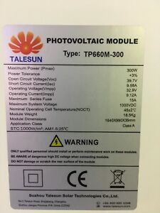290w Talesun Solar Panels. Delivery And Pick Up Available In Nsw,Vic,Qld