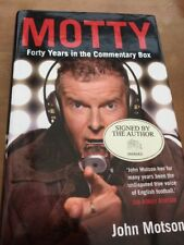 MOTTY - Forty Years In The Commentary Box , By John Motson - SIGNED