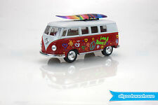 1962 Volkswagen Classical Bus 1:32 scale Die Cast Red model Kombi + surfboard