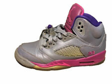 2013 Nike Air Jordan Shoes V 5 Retro GS Size 4Y Cement Grey Pink 440892-009 Girl