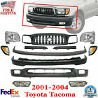 Front Bumper Kit Primed Grille Head Lights For 2001-2004 Toyota Tacoma